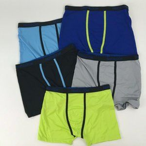 5 Pairs Fruit of the Loom Boxer Briefs Size XL